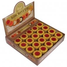 Печенье БИСКОТТИ Коста браво, с вишневым мармеладом, глазированное, 2 кг, шоу-бокс