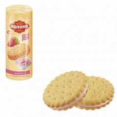 Печенье ЯШКИНО С клубничным кремом, затяжное, 182 г, МП428