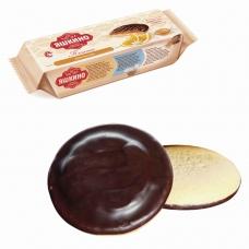 Печенье ЯШКИНО Апельсин, сдобное, с бисквитом, джемом и шоколадной глазурью, 137 г, ЯП206