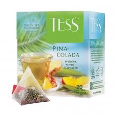 Чай TESS Тесс Pina Colada, зеленый с ароматом тропических фруктов, 20 пирамидок по 1,8 г, 0787-12