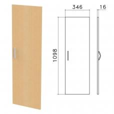Дверь ЛДСП средняя Канц, 346х16х1098 мм, цвет бук невский, ДК36.10