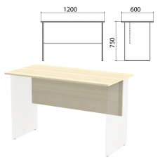 Столешница, царга стола письменного Канц 1200х600х750 мм, цвет дуб молочный, СК22.15.1