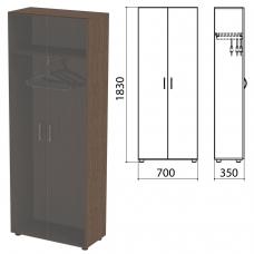 Шкаф каркас для одежды Канц 700х350х1830 мм, цвет венге, ШК40.16.2