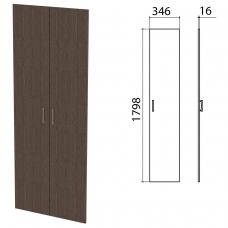 Дверь ЛДСП высокая Канц, КОМПЛЕКТ 2 шт, 346х16х1798 мм, цвет венге, ШК40.16.1