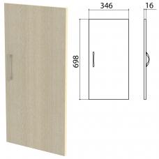 Дверь ЛДСП низкая Канц 346х16х698 мм, цвет дуб молочный, ДК32.15