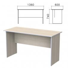 Стол письменный Бюджет, 1360х600х740 мм, дуб шамони светлый, 402661-430
