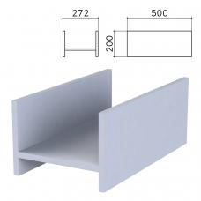 Подставка под системный блок Бюджет, 272х500х200 мм, серая, 402669-030